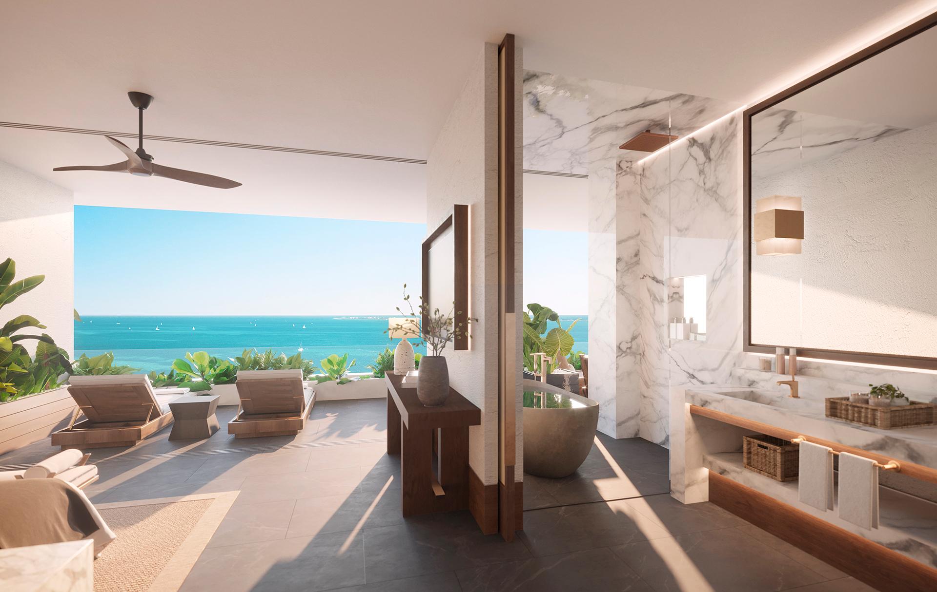 Master bedroom con vestidor y baño integrados